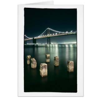 Oakland Bay Bridge @ Night Card