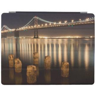 Oakland Bay Bridge night reflections. iPad Cover