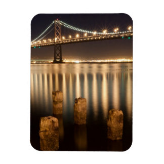 Oakland Bay Bridge night reflections. Magnet