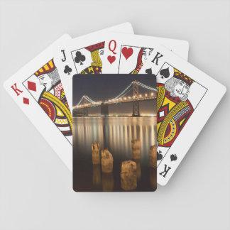 Oakland Bay Bridge night reflections. Playing Cards