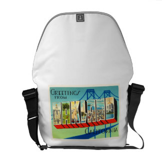 Oakland California CA Old Vintage Travel Souvenir Courier Bags