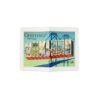 Oakland California CA Old Vintage Travel Souvenir Passport Holder