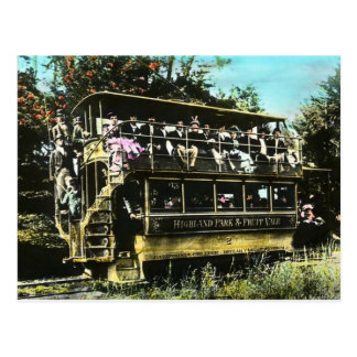 Oakland California  Double Decker Streetcar Postcard