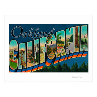 Oakland, California - Large Letter Scenes 2 Postcard
