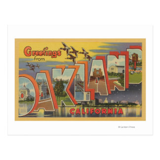 Oakland, California - Large Letter Scenes Postcard