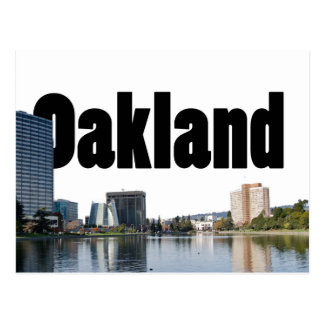 Oakland California with Oakland in the Sky Postcard