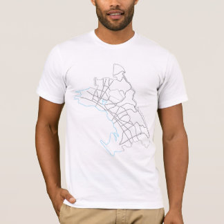 oakland city typographic map T-Shirt