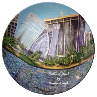 Oakland Jewel Porcelain Decorative Plate Porcelain Plates