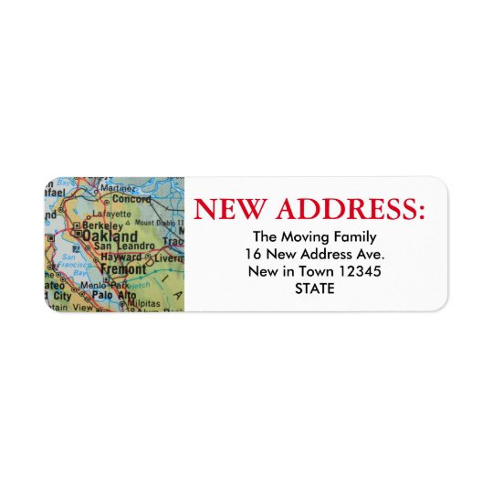 Oakland New Address Label