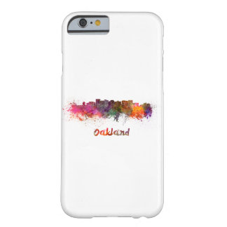 Oakland skyline in watercolor barely there iPhone 6 case