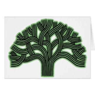 Oakland Tree Green Haze Card