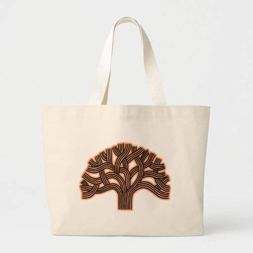 Oakland Tree Orange Haze Canvas Bag