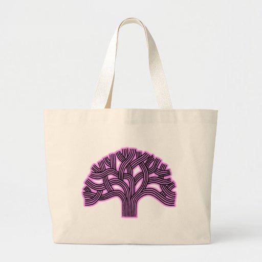Oakland Tree Pink Haze Tote Bags