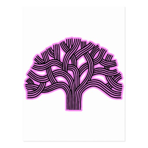Oakland Tree Pink Haze Post Cards