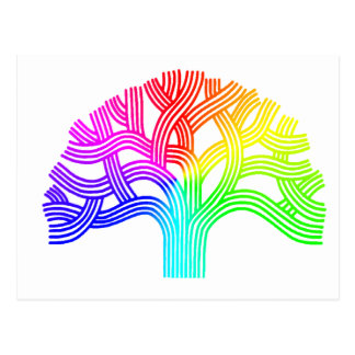 Oakland Tree Rainbow Postcard