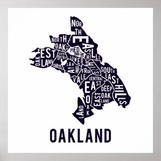 Oakland Typographic Map Print