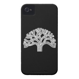 Oakland White Oak Tree on Black iPhone 4 Case-Mate Cases