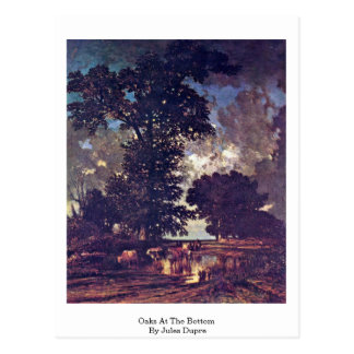 Oaks At The Bottom By Jules Dupre Postcard