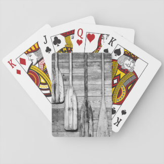 Oars are hung on wooden shed in Big Cypress, 2 Playing Cards