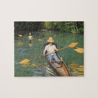 Oarsmen by Gustave Caillebotte, Vintage Fine Art Jigsaw Puzzle