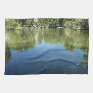 Oasis in the desert kitchen towel