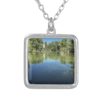 Oasis in the desert silver plated necklace