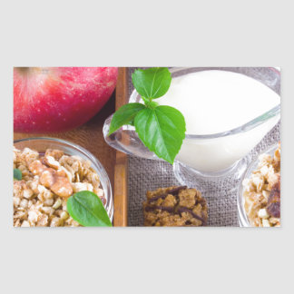 Oat cereal with nuts and raisins