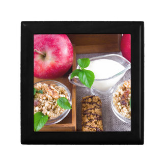 Oat cereal with nuts and raisins gift box
