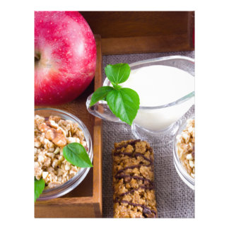 Oat cereal with nuts and raisins letterhead