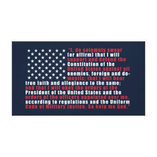 Oath of Enlistment Canvas Print