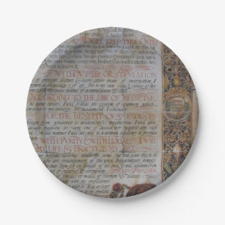 Oath of Hippocrates 7 Inch Paper Plate