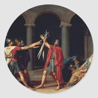 Oath of the Horatii Round Sticker
