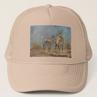 Oatman burros on trucker hat