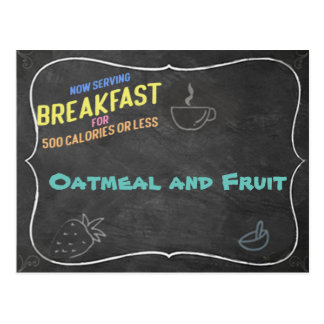 Oatmeal and Fruit Recipe Card