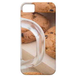 Oatmeal cookies and milk for breakfast close-up iPhone 5 case
