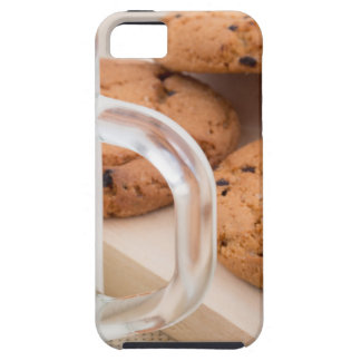 Oatmeal cookies and milk for breakfast close-up iPhone 5 covers