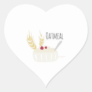 Oatmeal Heart Sticker