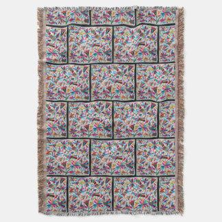 Oaxaca Mexico Mexican Mayan Hispanic Ethnic Boho Throw Blanket