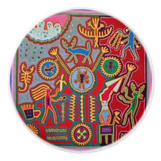 Oaxaca Mexico Mexican Mayan Tribal Art Boho Travel Ceramic Knob