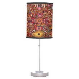 Oaxaca Mexico Mexican Mayan Tribal Art Boho Travel Table Lamp