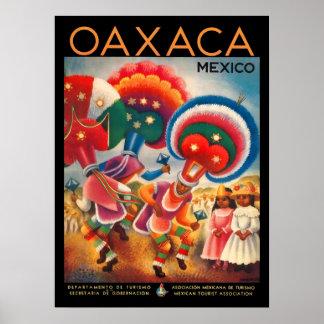 Oaxaca Mexico Vintage Travel Poster