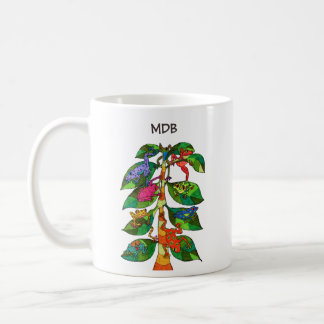 Oaxacan Frog Tree of Life Custom Monogram Coffee Mug