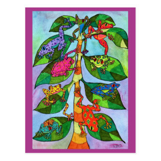 Oaxacan Frog Tree of Life Postcard