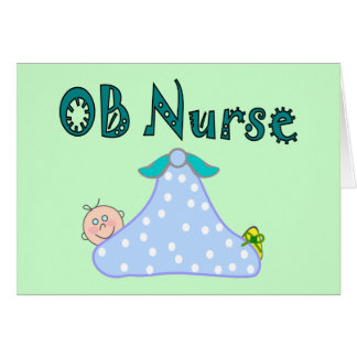 OB Nurse Gifts, Baby in Blanket--Adorable Greeting Card