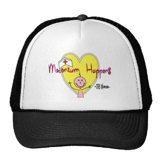 """OB Nurse """"Meconium Happens"""" Hilarious Trucker Hat"""