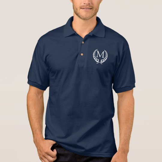 OB Wreathed Monogram Polo Shirt