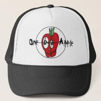 OBA red apple skull target trucker hat