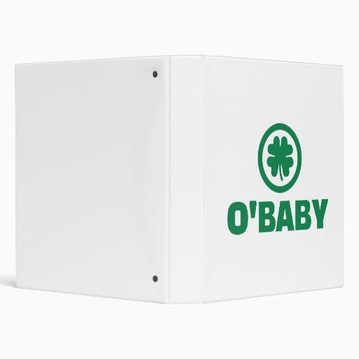 O'baby shamrock vinyl binders