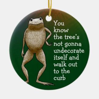 Obadiah Toad Tree Ceramic Ornament