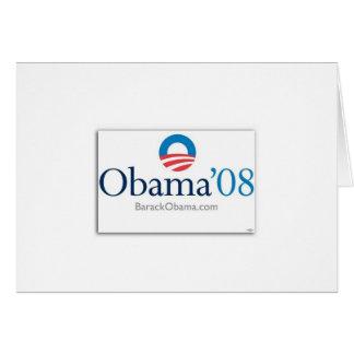 obama08 greeting card